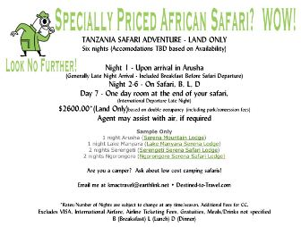 specially priced african safari